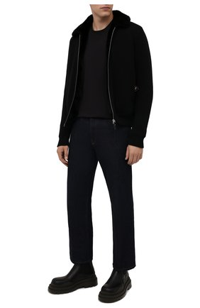 Мужской кашемировый бомбер с меховой подкладкой SVEVO черного цвета, арт. 0142SA21/MP01/2 | Фото 2 (Материал внешний: Кашемир, Шерсть; Длина (верхняя одежда): Короткие; Рукава: Длинные; Кросс-КТ: Куртка; Мужское Кросс-КТ: шерсть и кашемир, утепленные куртки; Принт: Без принта; Стили: Кэжуэл)