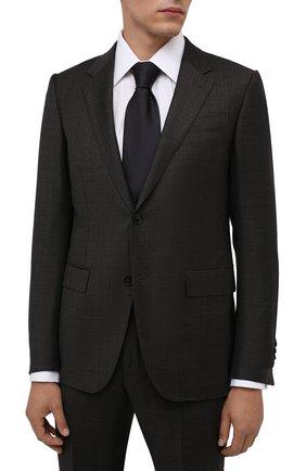Мужской шелковый галстук BRIONI темно-синего цвета, арт. 062I00/01442 | Фото 2 (Материал: Шелк, Текстиль; Принт: Без принта)
