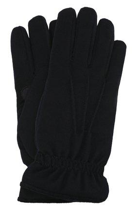 Мужские кашемировые перчатки LORO PIANA темно-синего цвета, арт. FAL3287 | Фото 1 (Материал: Шерсть, Кашемир; Мужское Кросс-КТ: шерсть и кашемир)