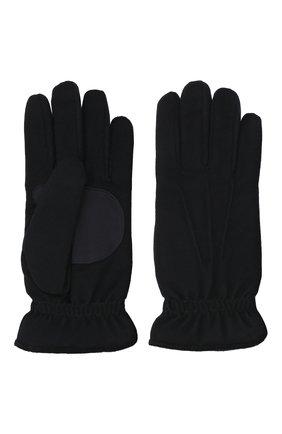 Мужские кашемировые перчатки LORO PIANA темно-синего цвета, арт. FAL3287 | Фото 2 (Материал: Шерсть, Кашемир; Мужское Кросс-КТ: шерсть и кашемир)
