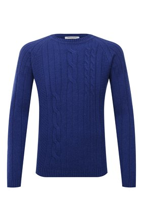 Мужской кашемировый свитер DANIELE FIESOLI синего цвета, арт. WS 3240 | Фото 1 (Материал внешний: Кашемир, Шерсть; Мужское Кросс-КТ: Свитер-одежда; Принт: Без принта; Стили: Кэжуэл; Рукава: Длинные; Длина (для топов): Стандартные)