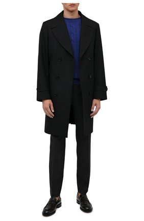 Мужской кашемировый свитер DANIELE FIESOLI синего цвета, арт. WS 3240 | Фото 2 (Материал внешний: Кашемир, Шерсть; Мужское Кросс-КТ: Свитер-одежда; Принт: Без принта; Стили: Кэжуэл; Рукава: Длинные; Длина (для топов): Стандартные)