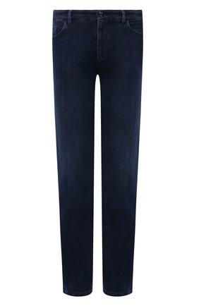 Мужские джинсы ZILLI темно-синего цвета, арт. MCW-00032-JABI1/S001 | Фото 1 (Материал внешний: Хлопок; Длина (брюки, джинсы): Стандартные; Силуэт М (брюки): Прямые; Кросс-КТ: Деним; Стили: Классический)