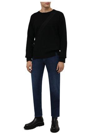 Мужские джинсы ZILLI темно-синего цвета, арт. MCW-00032-JABI1/S001 | Фото 2 (Материал внешний: Хлопок; Длина (брюки, джинсы): Стандартные; Силуэт М (брюки): Прямые; Кросс-КТ: Деним; Стили: Классический)