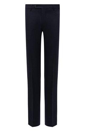 Мужские шерстяные брюки BERWICH темно-синего цвета, арт. SC/1 ALC/AN1214 | Фото 1 (Материал внешний: Шерсть; Длина (брюки, джинсы): Стандартные; Материал подклада: Купро; Случай: Формальный; Стили: Классический)