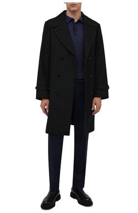 Мужские шерстяные брюки BERWICH темно-синего цвета, арт. SC/1 ALC/AN1214 | Фото 2 (Материал внешний: Шерсть; Длина (брюки, джинсы): Стандартные; Материал подклада: Купро; Случай: Формальный; Стили: Классический)