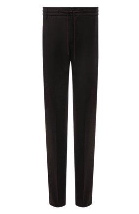 Мужские шерстяные брюки BERWICH темно-коричневого цвета, арт. SPIAGGIA/MZ1851X | Фото 1 (Материал подклада: Купро; Материал внешний: Шерсть; Случай: Повседневный; Стили: Кэжуэл; Длина (брюки, джинсы): Стандартные)