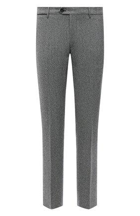Мужские шерстяные брюки BERWICH серого цвета, арт. ZIP/1 ALC/AN1030 | Фото 1 (Материал внешний: Шерсть; Длина (брюки, джинсы): Стандартные; Материал подклада: Купро; Случай: Повседневный; Стили: Кэжуэл)