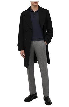 Мужские шерстяные брюки BERWICH серого цвета, арт. ZIP/1 ALC/AN1030 | Фото 2 (Материал внешний: Шерсть; Длина (брюки, джинсы): Стандартные; Материал подклада: Купро; Случай: Повседневный; Стили: Кэжуэл)