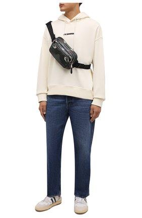 Мужская поясная сумка bum bag BURBERRY темно-зеленого цвета, арт. 8042040 | Фото 2 (Материал: Текстиль; Ремень/цепочка: На ремешке)