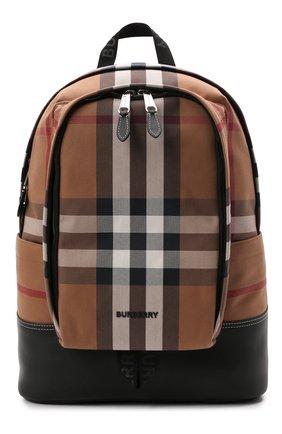 Мужской текстильный рюкзак BURBERRY коричневого цвета, арт. 8041672 | Фото 1 (Материал: Текстиль)