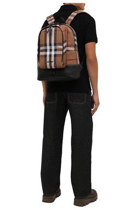 Мужской текстильный рюкзак BURBERRY коричневого цвета, арт. 8041672 | Фото 2 (Материал: Текстиль)