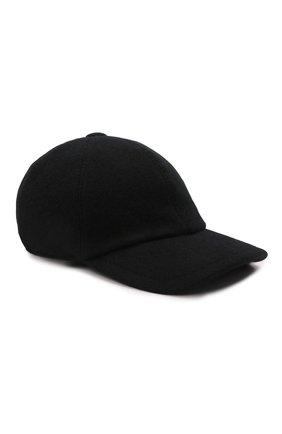 Мужской кашемировая бейсболка FEDELI черного цвета, арт. 4UI00801 | Фото 1 (Материал: Кашемир, Шерсть)