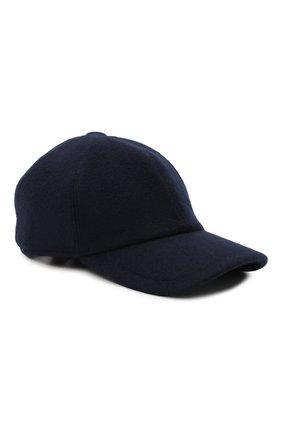 Мужской кашемировая бейсболка FEDELI темно-синего цвета, арт. 4UI00801 | Фото 1 (Материал: Шерсть, Кашемир)