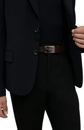 Мужской кожаный ремень DOLCE & GABBANA коричневого цвета, арт. BC4639/AX535 | Фото 2 (Случай: Повседневный)