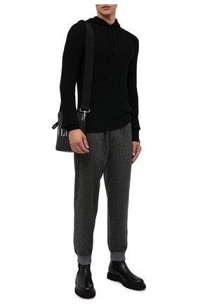 Мужской кашемировое худи POLO RALPH LAUREN черного цвета, арт. 710810820   Фото 2 (Материал внешний: Шерсть, Кашемир; Длина (для топов): Стандартные; Рукава: Длинные; Мужское Кросс-КТ: Худи-одежда; Принт: Без принта; Стили: Кэжуэл)