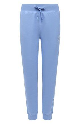 Женские хлопковые джоггеры TOMMY HILFIGER голубого цвета, арт. S10S101088 | Фото 1 (Длина (брюки, джинсы): Стандартные; Материал внешний: Хлопок; Стили: Спорт-шик; Женское Кросс-КТ: Джоггеры - брюки, Брюки-спорт; Силуэт Ж (брюки и джинсы): Джоггеры)