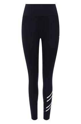 Женские леггинсы TOMMY HILFIGER темно-синего цвета, арт. S10S101160 | Фото 1 (Материал внешний: Синтетический материал; Длина (брюки, джинсы): Стандартные; Стили: Спорт-шик; Женское Кросс-КТ: Леггинсы-одежда, Леггинсы-спорт)