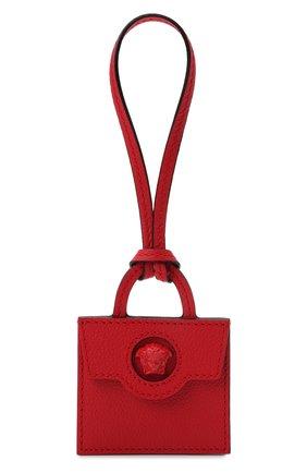 Женский брелок для ключей VERSACE красного цвета, арт. 1001117/1A00740 | Фото 1