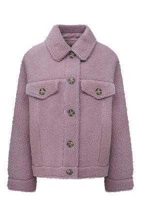 Женская куртка из овчины METEO YVES SALOMON сиреневого цвета, арт. 22WMV60367MECL   Фото 1 (Материал внешний: Натуральный мех; Стили: Кэжуэл; Женское Кросс-КТ: Мех; Кросс-КТ: Куртка; Рукава: Длинные; Длина (верхняя одежда): Короткие)
