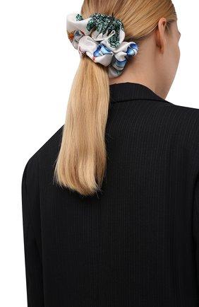 Женская резинка для волос VERSACE белого цвета, арт. IELA002/1F01193 | Фото 2 (Материал: Шелк, Текстиль)
