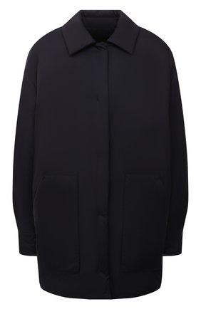 Женская двусторонняя куртка LORO PIANA темно-синего цвета, арт. FAL7249 | Фото 1 (Рукава: Длинные; Материал внешний: Синтетический материал; Материал утеплителя: Шерсть, Пух и перо; Длина (верхняя одежда): До середины бедра; Стили: Кэжуэл; Кросс-КТ: Куртка)