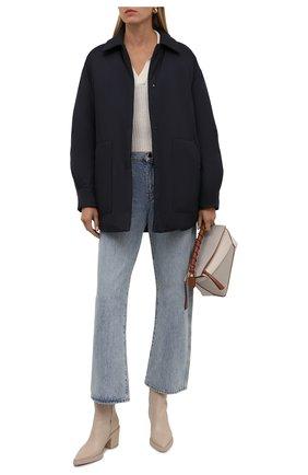 Женская двусторонняя куртка LORO PIANA темно-синего цвета, арт. FAL7249 | Фото 2 (Рукава: Длинные; Материал внешний: Синтетический материал; Материал утеплителя: Шерсть, Пух и перо; Длина (верхняя одежда): До середины бедра; Стили: Кэжуэл; Кросс-КТ: Куртка)