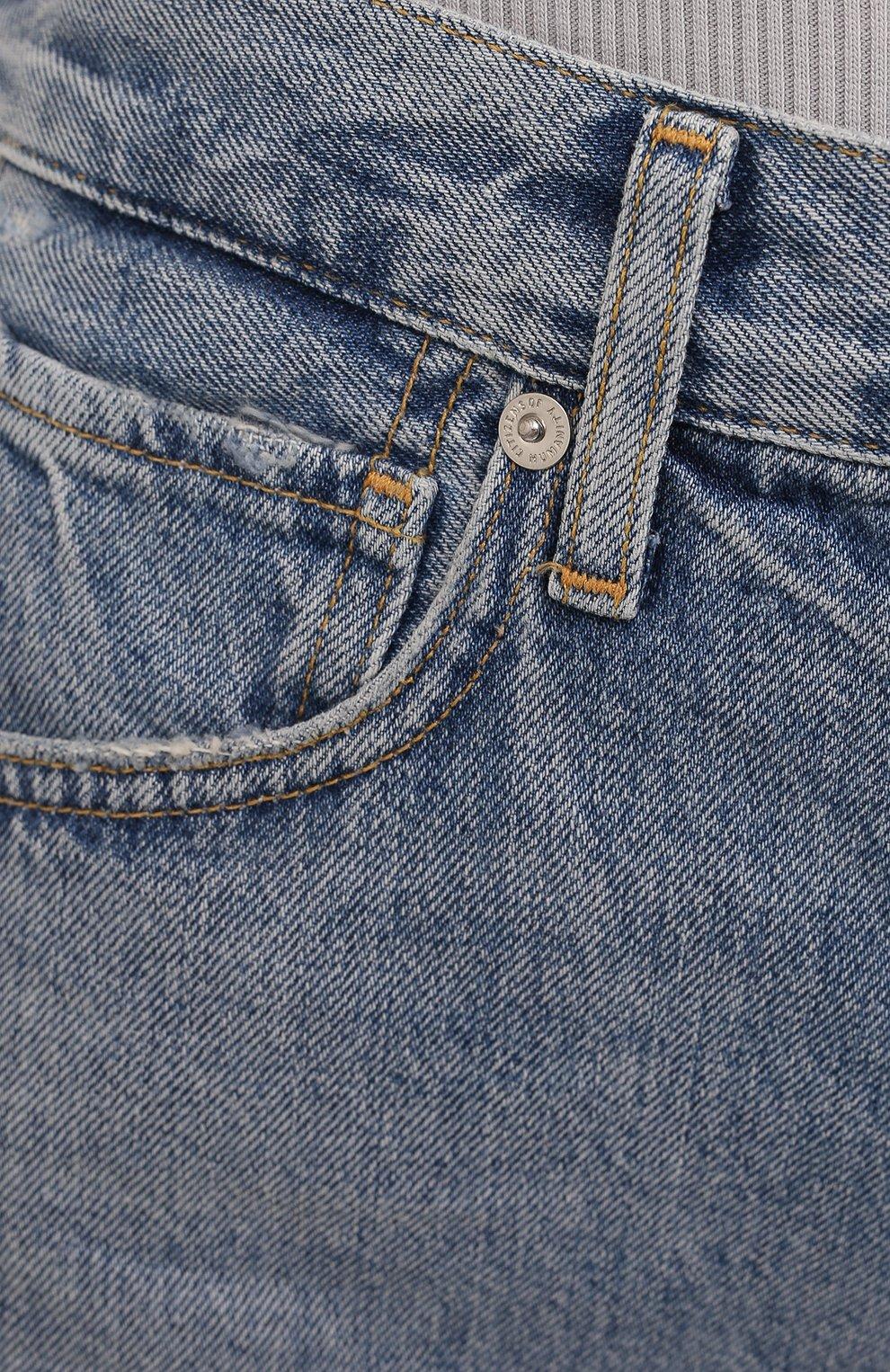 Женские джинсовые шорты CITIZENS OF HUMANITY голубого цвета, арт. 1942-837 | Фото 5 (Женское Кросс-КТ: Шорты-одежда; Кросс-КТ: Деним; Длина Ж (юбки, платья, шорты): Мини; Материал внешний: Хлопок; Стили: Кэжуэл)