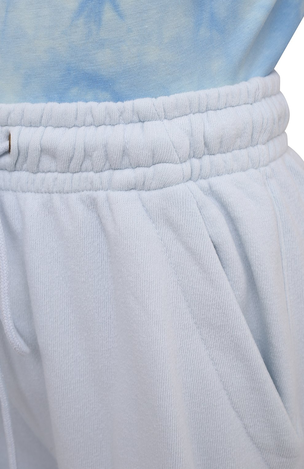 Женские хлопковые шорты CITIZENS OF HUMANITY светло-голубого цвета, арт. 1947   Фото 5 (Женское Кросс-КТ: Шорты-одежда; Длина Ж (юбки, платья, шорты): Мини; Кросс-КТ: Трикотаж; Материал внешний: Хлопок; Стили: Спорт-шик)