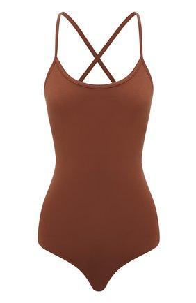Женское боди AGOLDE коричневого цвета, арт. A7087-1269   Фото 1 (Материал внешний: Синтетический материал; Стили: Гламурный; Кросс-КТ: Трикотаж; Женское Кросс-КТ: Боди-одежда)