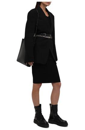 Женские комбинированные ботинки PREMIATA черного цвета, арт. M4970/VARIANTE 3   Фото 2 (Каблук высота: Низкий; Женское Кросс-КТ: Военные ботинки; Подошва: Платформа; Материал внутренний: Натуральная кожа)