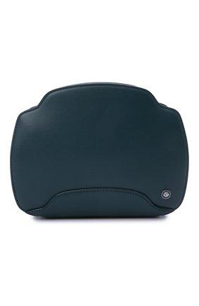 Женская сумка sesia LORO PIANA синего цвета, арт. FAL6767 | Фото 1 (Материал: Натуральная кожа; Сумки-технические: Сумки через плечо; Размер: small, mini; Ремень/цепочка: На ремешке)