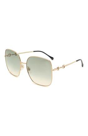 Женские солнцезащитные очки GUCCI светло-зеленого цвета, арт. GG0879S 003 | Фото 1 (Тип очков: С/з; Оптика Гендер: оптика-женское)