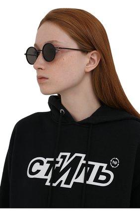 Женские солнцезащитные очки MYKITA черного цвета, арт. EETU/BLACK/BLACK/GREY S0LID 909 | Фото 2 (Тип очков: С/з; Оптика Гендер: оптика-унисекс)