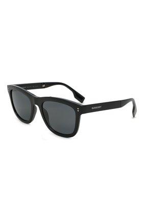 Мужские солнцезащитные очки BURBERRY черного цвета, арт. 4341-3001T8   Фото 1 (Тип очков: Оправа; Оптика Гендер: оптика-мужское)