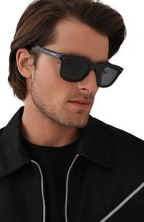 Мужские солнцезащитные очки BURBERRY черного цвета, арт. 4341-3001T8   Фото 2 (Тип очков: Оправа; Оптика Гендер: оптика-мужское)