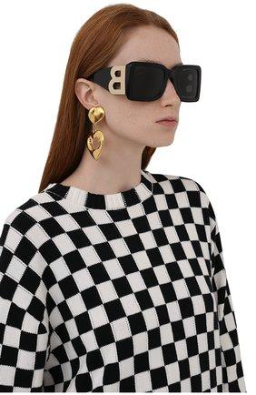 Женские солнцезащитные очки BURBERRY черного цвета, арт. 4312-390787   Фото 2 (Тип очков: С/з; Оптика Гендер: оптика-женское)