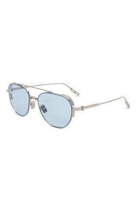 Мужские солнцезащитные очки DIOR голубого цвета, арт. NE0DI0R RU F0I0 | Фото 1 (Материал: Металл; Тип очков: С/з; Оптика Гендер: оптика-мужское; Очки форма: Авиаторы)