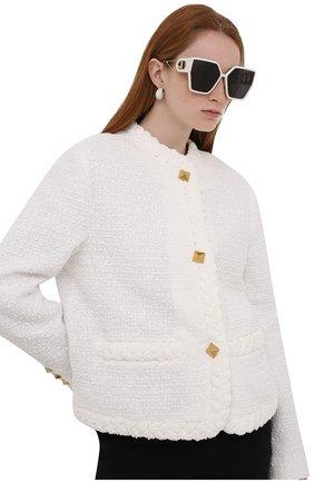Женские солнцезащитные очки DIOR белого цвета, арт. 30M0NTAIGNE BU 95A1 | Фото 2 (Тип очков: С/з; Оптика Гендер: оптика-женское)