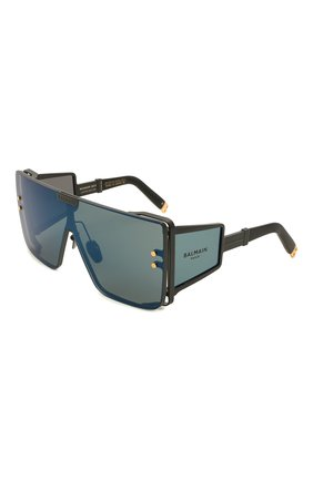 Женские солнцезащитные очки BALMAIN черного цвета, арт. BPS-102G | Фото 1 (Тип очков: С/з; Оптика Гендер: оптика-унисекс)