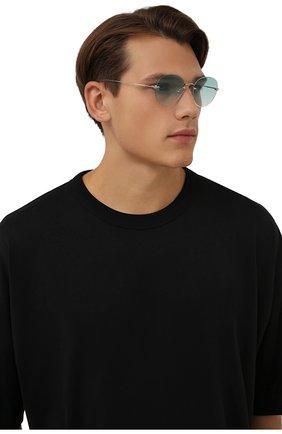 Женские солнцезащитные очки EYEPETIZER бирюзового цвета, арт. CARY 1-21 | Фото 3 (Тип очков: С/з; Оптика Гендер: оптика-унисекс)