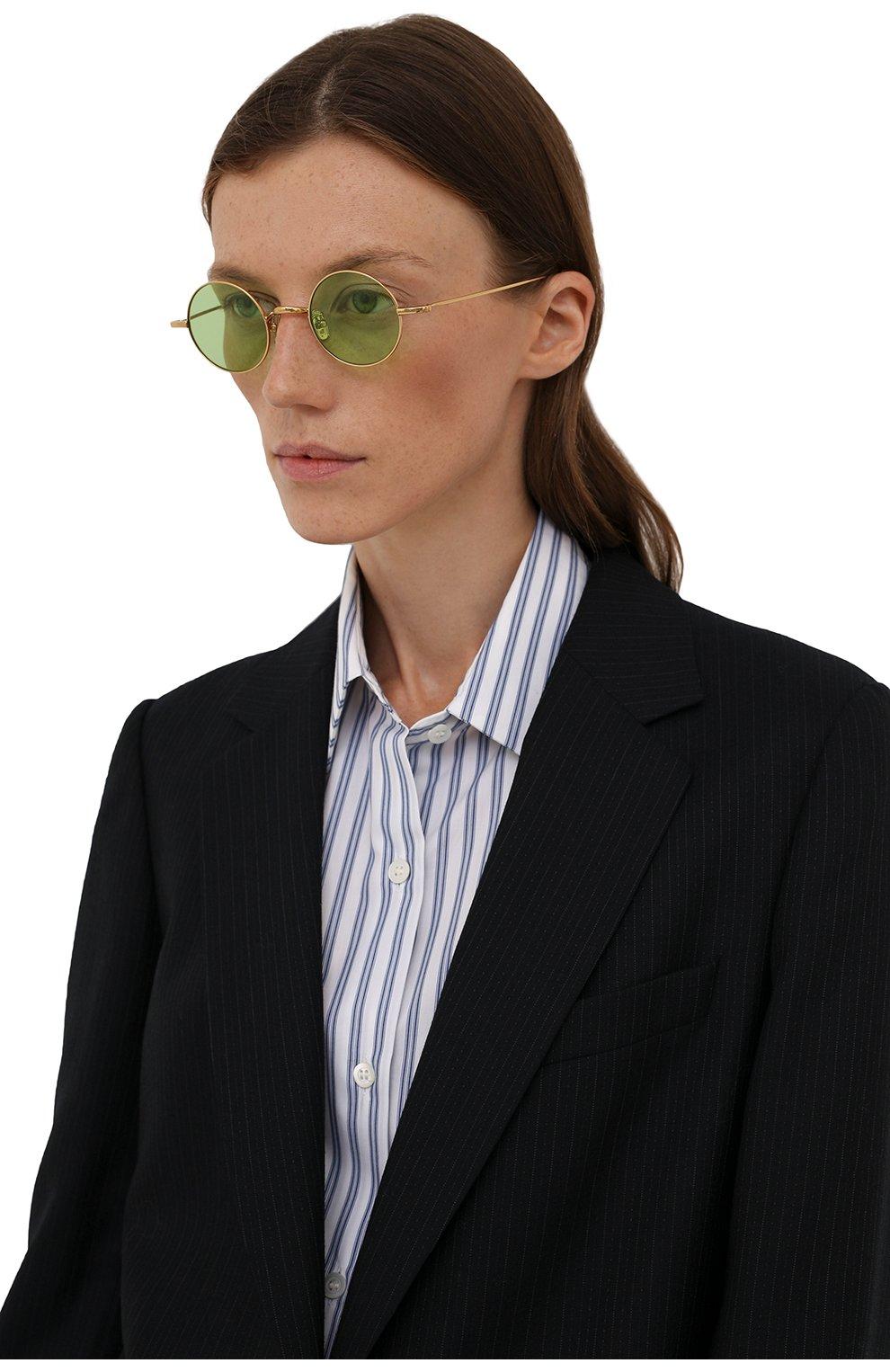 Женские солнцезащитные очки EYEPETIZER зеленого цвета, арт. JEREMY 4-1   Фото 2 (Тип очков: С/з; Оптика Гендер: оптика-унисекс)