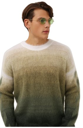 Женские солнцезащитные очки EYEPETIZER зеленого цвета, арт. JEREMY 4-1   Фото 3 (Тип очков: С/з; Оптика Гендер: оптика-унисекс)