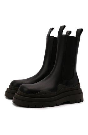 Мужские кожаные челси tire BOTTEGA VENETA черного цвета, арт. 630284/VBS50 | Фото 1 (Материал внутренний: Натуральная кожа; Мужское Кросс-КТ: Ботинки-обувь, Челси-обувь; Высота голенища: Высокие; Каблук высота: Высокий; Подошва: Массивная)