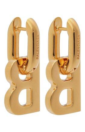 Женские серьги BALENCIAGA золотого цвета, арт. 655286/TZ99G | Фото 1 (Материал: Металл)