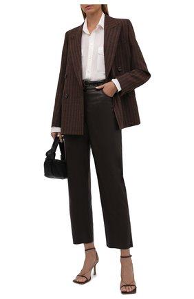 Женская шелковая рубашка RALPH LAUREN кремвого цвета, арт. 290845655 | Фото 2 (Материал внешний: Шелк; Рукава: Длинные; Длина (для топов): Удлиненные; Стили: Кэжуэл; Женское Кросс-КТ: Рубашка-одежда; Принт: Без принта)