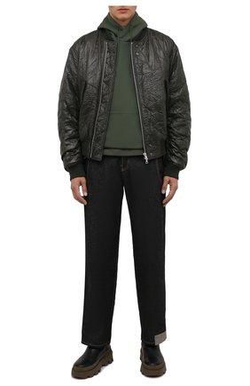 Мужские кожаные челси lir MONCLER черного цвета, арт. G2-09A-4F708-00-02SWL | Фото 2 (Материал внутренний: Натуральная кожа; Подошва: Массивная; Каблук высота: Высокий; Мужское Кросс-КТ: Сапоги-обувь, Челси-обувь)