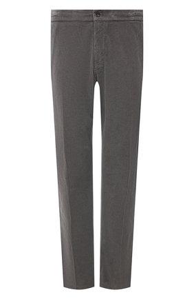 Мужские хлопковые брюки MARCO PESCAROLO серого цвета, арт. CHIAIAM/ZIP+SFILA/4402 | Фото 1 (Длина (брюки, джинсы): Стандартные; Материал внешний: Хлопок; Случай: Повседневный; Стили: Кэжуэл; Big sizes: Big Sizes)