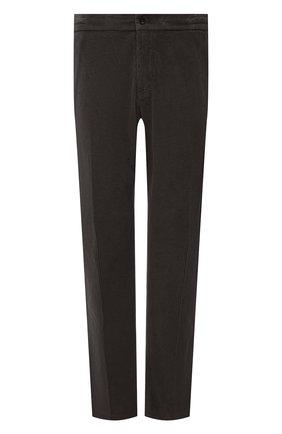 Мужские хлопковые брюки MARCO PESCAROLO коричневого цвета, арт. CHIAIAM/ZIP+SFILA/4402 | Фото 1 (Материал внешний: Хлопок; Случай: Повседневный; Стили: Кэжуэл; Big sizes: Big Sizes; Длина (брюки, джинсы): Стандартные)