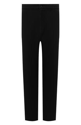 Мужские брюки из хлопка кашемира MARCO PESCAROLO черного цвета, арт. CHIAIAM/ZIP+SFILA/4407 | Фото 1 (Длина (брюки, джинсы): Стандартные; Материал внешний: Хлопок; Случай: Повседневный; Стили: Кэжуэл; Big sizes: Big Sizes)